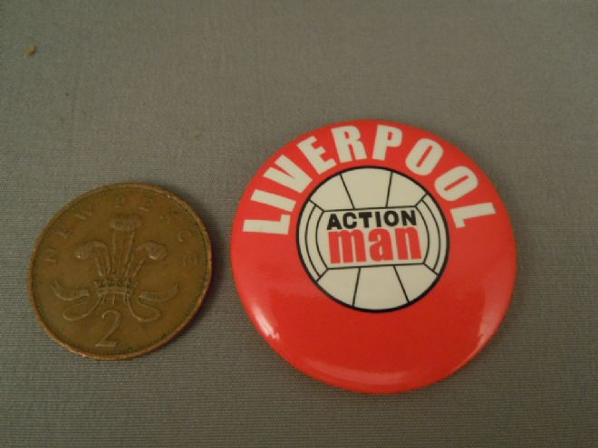 ACTION MAN 40th - SPORTSMAN LIVERPOOL FOOTBALLER BADGE